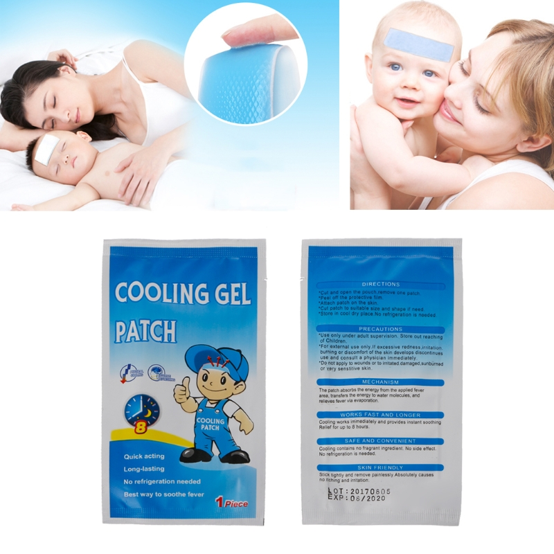 5 pcs Medical Grade Hydrogel Fever Reducing Pain Relief Cooling Patch For Baby Kids Adult image