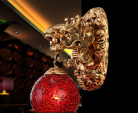 Wonderland China Style Dragon Wall Lamp Luxury Lighting E27 Glass Lampshade Hot Sell For Home Top Fashion WL 1