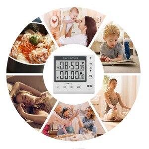 Image 3 - Küche Timer Digitale Countdown Timer 2 Kanal Blinkende LED für Labor Elektronische Küche Hausaufgaben Übung Gym Workout Kochen