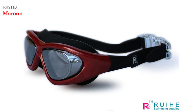 Goggles electroplating large mirror plain water fog swimming goggles men and women do not pressure the eye  Hot sell