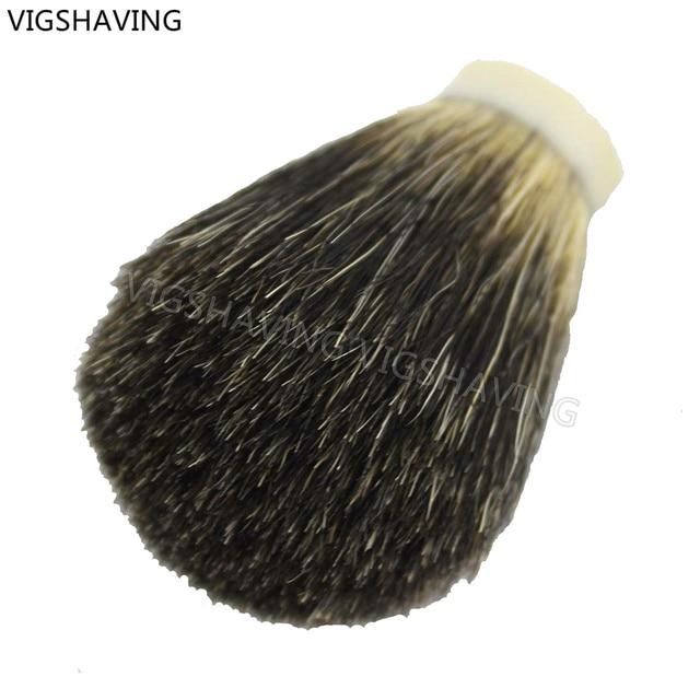 22/65mm Black pure Badger hair Shaving Brush Knot