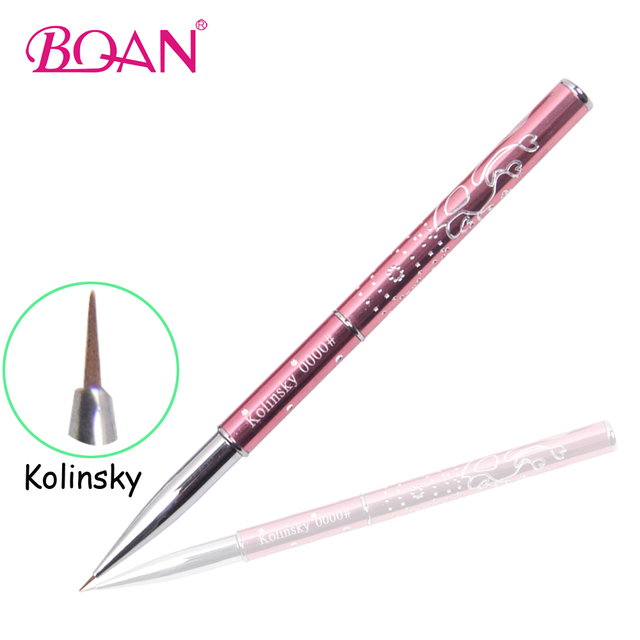 1 Piece Free Shipping BQAN 100% Kolinsky Nail Art Brush Art Pen Cute ...
