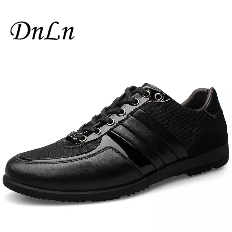 ФОТО Size 38-45 Genuine Leather Shoes Men Classic 2016 Breathable Summer Men Shoes Black Brown Men Flat Shoes D30