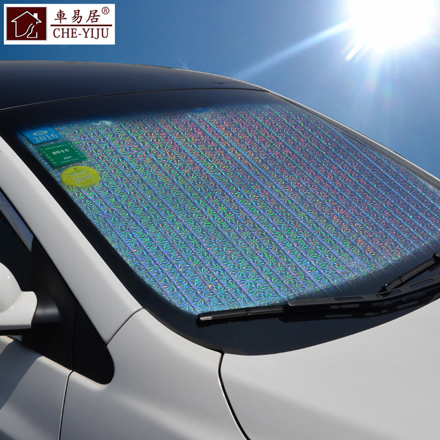 Sun Shade in the Car Windshield Visor Cover Block Front Window car Sunshade  UV Protect Car Window Foil Windshield fb3c81fa0bd
