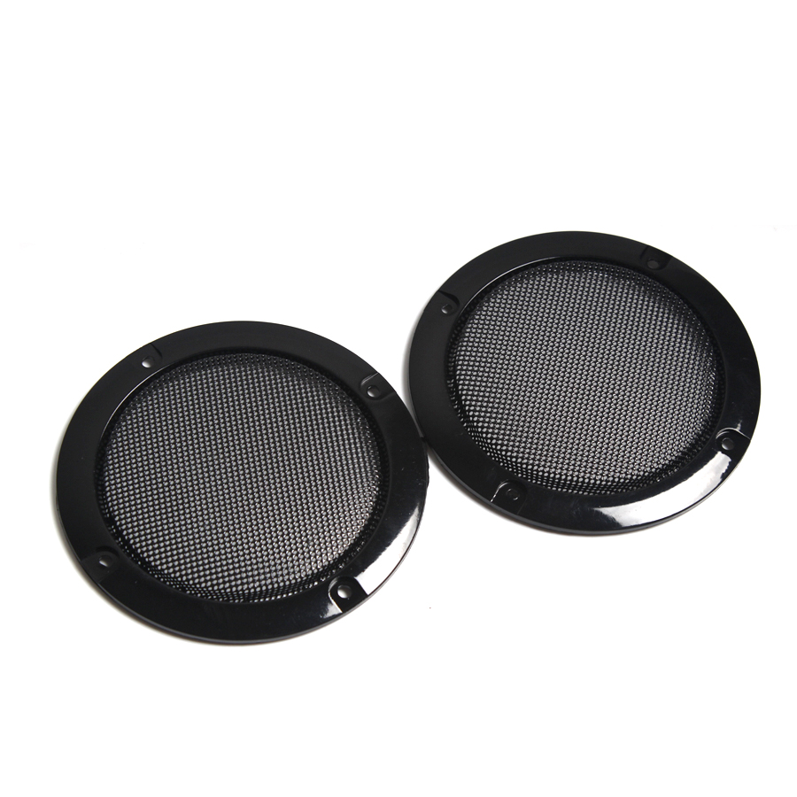 2PCS 2 Inch 3 Inch 4 Inch Black Replacement Round Speaker Protective Mesh Net Cover Grille Circle Speaker Accessories