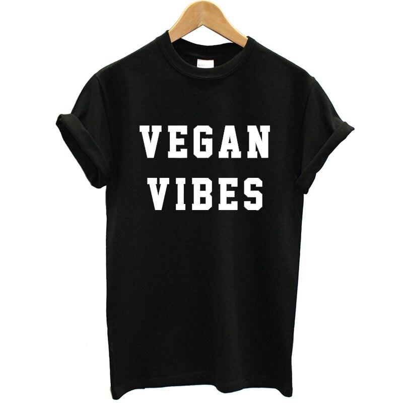 Women Black T-shirt O Neck Letter Print Vegan Bibes Funny T Shirt Women 2018 Summer Tshirt Cotton Short Sleeve Harajuku Tee Tops