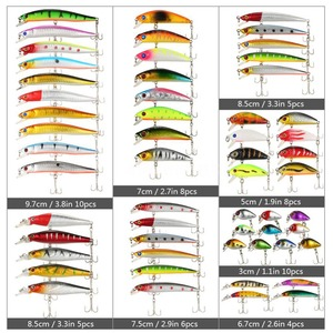 Image 5 - 56PCS Fishing Lures Set Mixed Minnow Lot Lure Bait Crankbait Tackle Bass Fishing Wobblers Suitable For Different Kinds Of Fishes