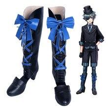 Аниме Черный Батлер ciel Косплэй Обувь ботинки черного цвета Хэллоуин Новогодние товары обувь для сцены на заказ Любой размер высокое качество