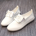 HKL Women Oxfords Flats Shoes Leather Lace Up Platform Shoes Woman 2017 Brand Fashion Female Casual White Creepers Shoes Ladies