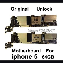 Original & 100% working Unlocked for iphone 5 motherboard 64GB completed Mainboard With Full Chips Logic Board