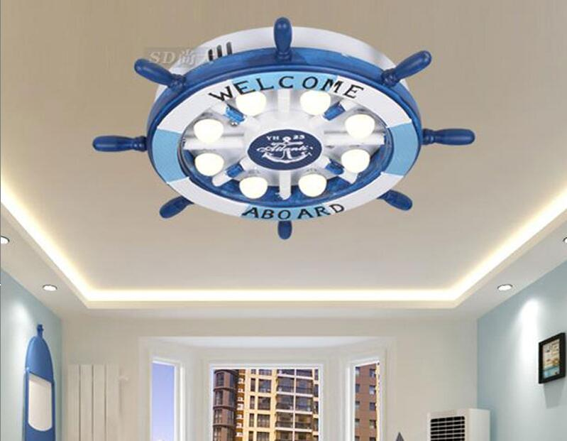 Children toy modern Led ceiling lamps creative room personality of children room master bedroom boy eye cartoon rudder lamp ET18