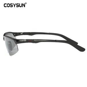 Image 4 - Мужские солнцезащитные очки для вождения COSYSUN, поляризационные очки с фотохромными линзами, алюминиевые спортивные очки, прозрачные очки Хамелеон CS121
