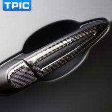 TPIC akcesoria zewnętrzne do samochodu drzwi z włókna węglowego uchwyt naklejki do bmw E90 E92 E93 1 2 3 4 serii 3GT X1 X3 X4 X5 X6 M2 M3 M4 tanie tanio Drzwi i linii Talii CN (pochodzenie) 3d carbon fiber vinyl 0 3cm 23 2cm Zmiana koloru Włókno węglowe Carbon fiber protector
