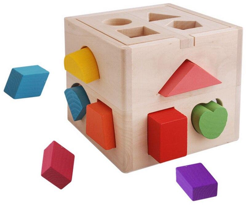 цена на New Baby Wooden Toys Montessori Kids Brinquedos Educativos Intelligence Box Children's educational Blocks Toy Learning Education