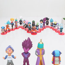 18pcs/lot 5-7cm WCF Dragon Ball Z Vegeta Super Saiyan goku Black Zamasu goku rose PVC Action Figure Collectible Model Toy(China)