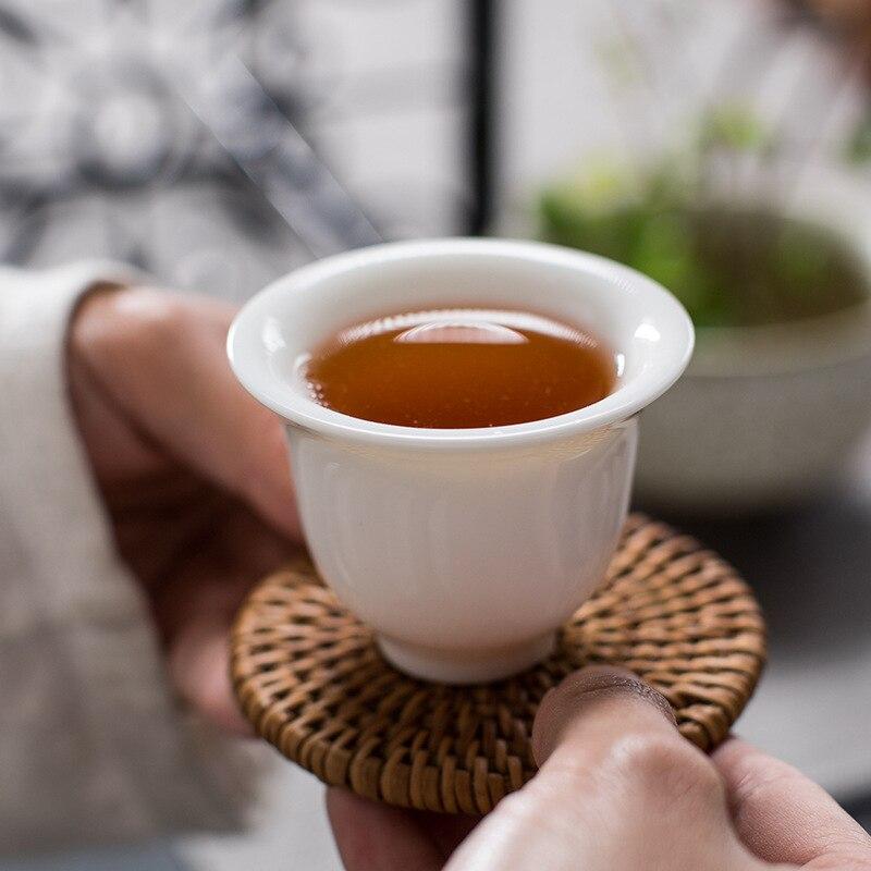 New Arrival Dehua China white porcelain tea gift box set Chinese Kung Fu tea gift Ceramic teaware sets Free Shipping - 3