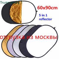 60x90 cm 24 ''x 35'' 5 in 1 Multi Disc Fotografie Studio Foto Oval Faltbare Licht reflektor haltegriff tragbare foto disc
