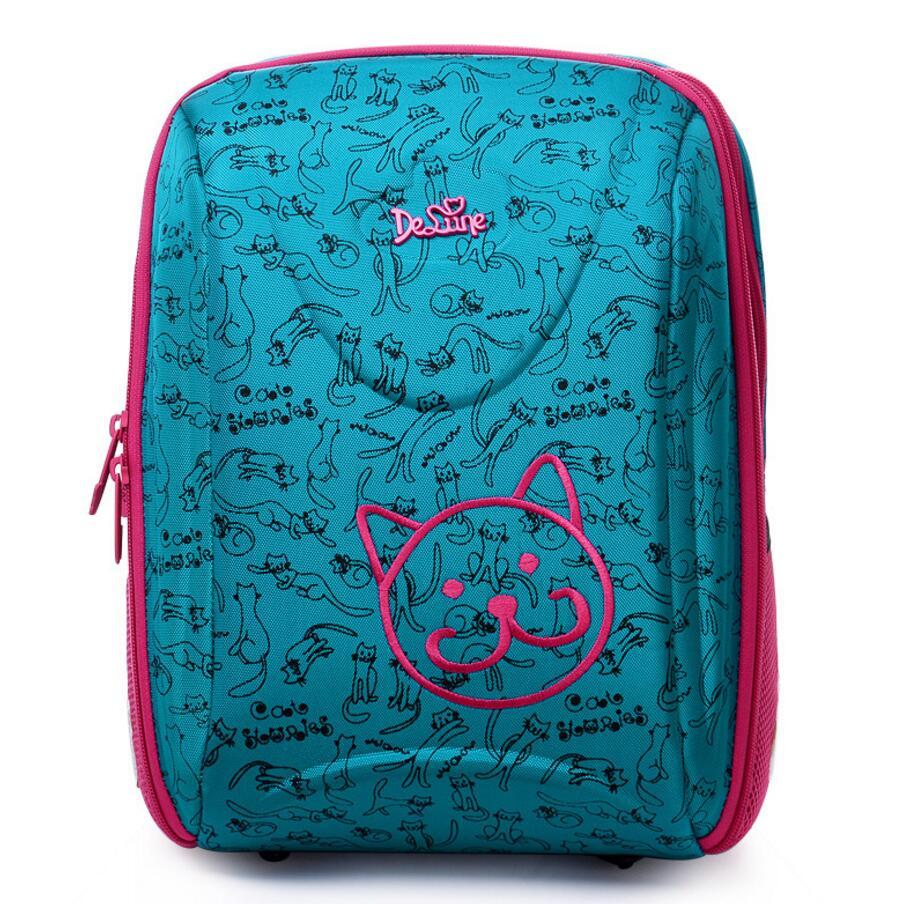 Delune New Girls Boys School กระเป๋าผ้าไนล่อนออกแบบ Ergonomic เด็กการ์ตูนสัตว์กระเป๋าเป้สะพายหลังโรงเรียนขนาดใหญ่-ใน กระเป๋านักเรียน จาก สัมภาระและกระเป๋า บน   1