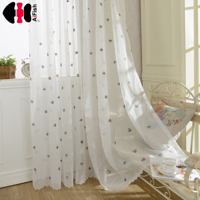 Curtains White Sheer Snow Faux Linen Embroidered Voile For Living Room Veil Custom Made Rideaux Wp399b
