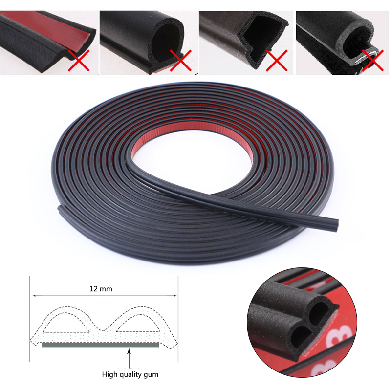 Car Sticker Car Door Seal Strips Shape B Weatherstrip Rubber Seals Sound Insulation Sealing Automobiles Interior Accessories