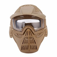WoSporT Tactical Outdoor Lens Mask Breathable Full Face Mask CS Hunting Military Airsoft Protection Masks Paintball