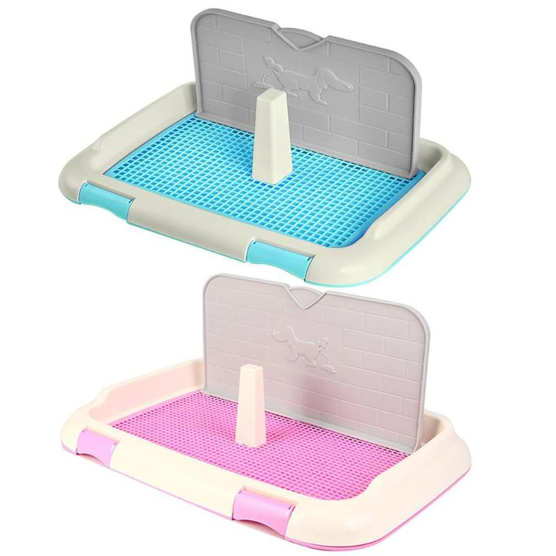 Portable Dog Cat Toilet Urinal Bowl Potty Bath Tray Pets Training Supplies
