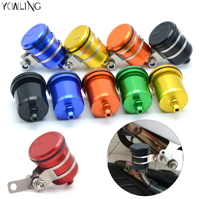 Motorcycle Brake Fluid Reservoir Clutch Tank Oil Fluid Cup For Kawasaki ZX6R ZX7R ZX10R ZX9R NINJA300 Z900 KTM RC DUKE 390 250 free shipping hot sale for kawasaki z900 z 900 motorcycle accessories rear brake fluid reservoir cap oil cup