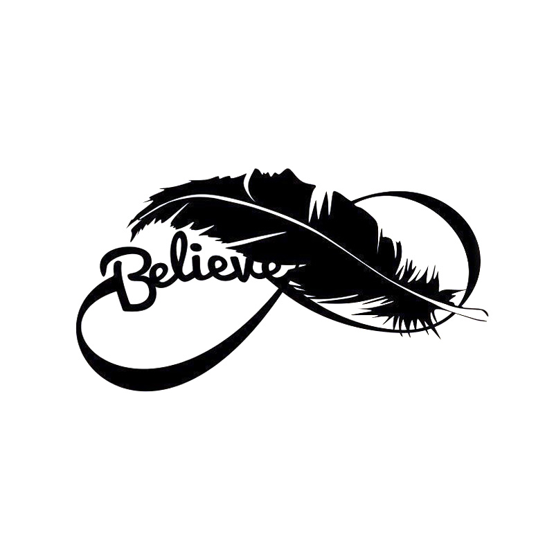 Feather Vinyl Decal-Style 08