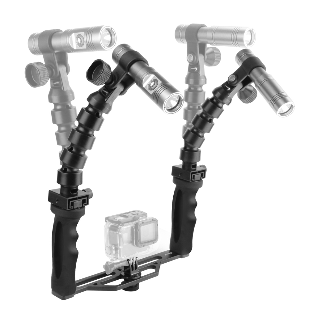 TIRER Plongée De Poche Stabilisateur avec des Lampes de Poche pour GoPro Hero 6 5 Xiaomi Yi 4 k Sjcam Sj4000 M20 Eken Aller pro Hero Accessoires