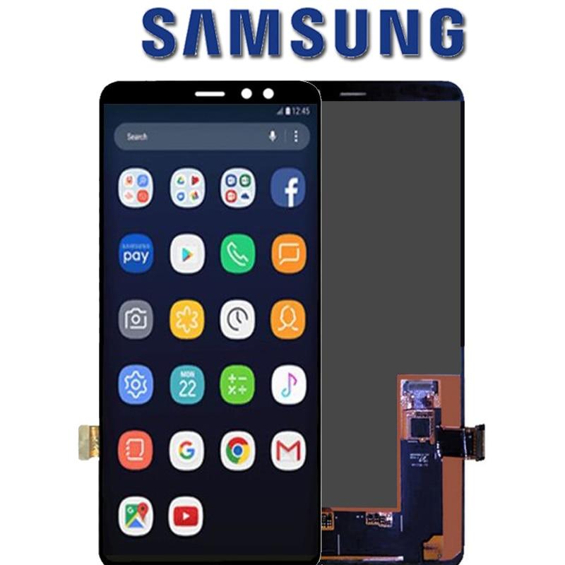 ORIGINAL Super AMOLED LCD pantalla para SAMSUNG A730 pantalla LCD para Samsung A8 más 2018 A730 táctil LCD cristal digitalizador asamblea