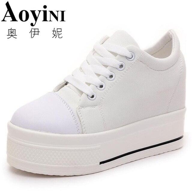 Women Sneakers Platform Shoes Casual High heel Walking Trainers Boots Hidden