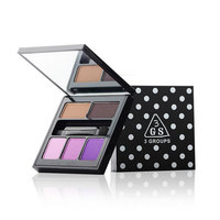 1pc Brand 3groups 3 Colors Pigment Matte Eyeshadow Eyebrow Powder Makeup Palette With Brush Long Lasting