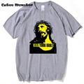 2017 Fashion Guns N Roses T Shirt Men KILL YOUR IDOLS Jesus 3D T-Shirt Short Sleeve Cotton Hip Hop Religion T shirt Homme
