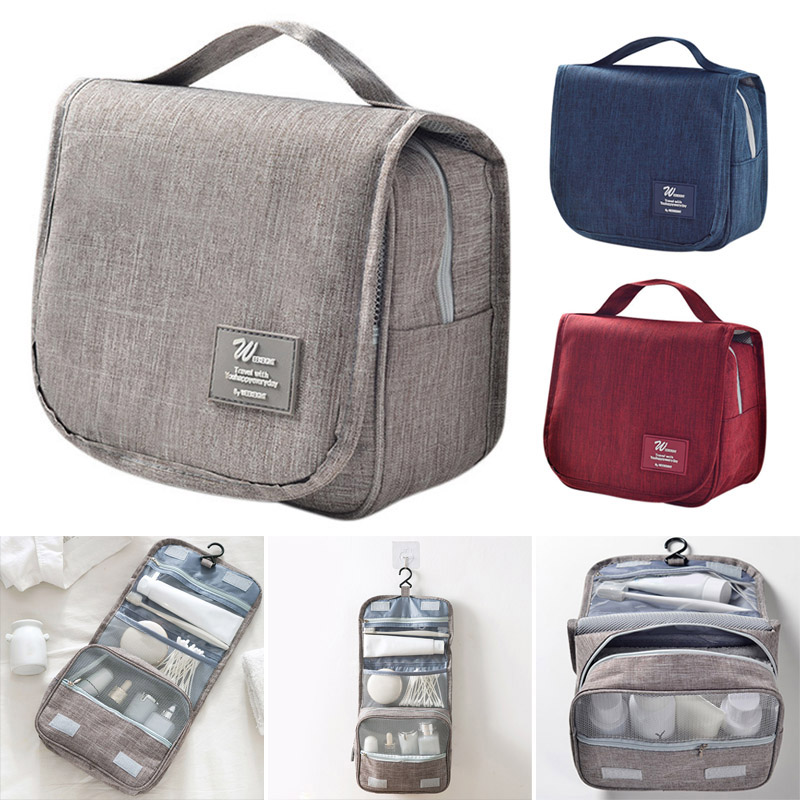 Portable Travel Makeup Bag Simple Large Capacity Multifunctional Hanging Bag Best Sale-WT
