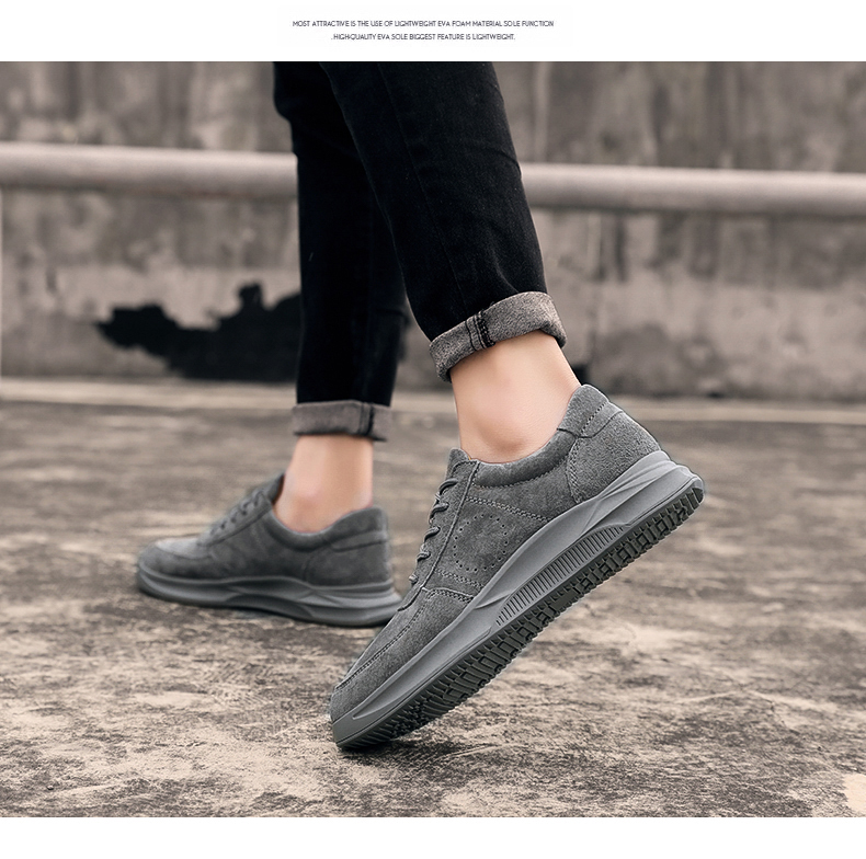 Genuine Leather unisex Suede sneakers 7