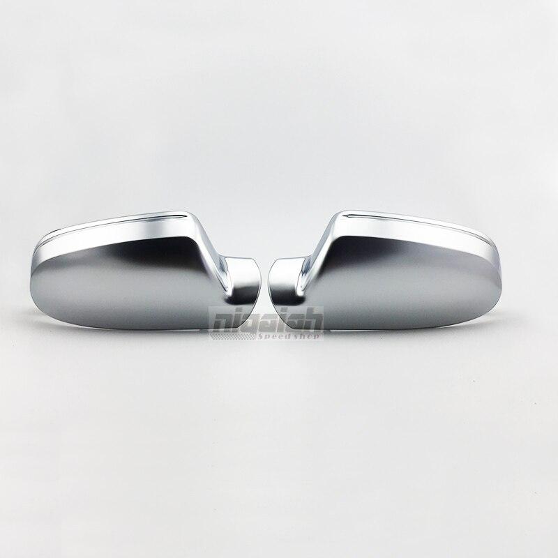 B8.5 ABS Matt Chrome De Voiture Argent côté Arrière Miroir Couverture De Remplacement pour Audi A4 A5 A3 S4 S5 S3 2010-2014 avec Côté Lane Assist