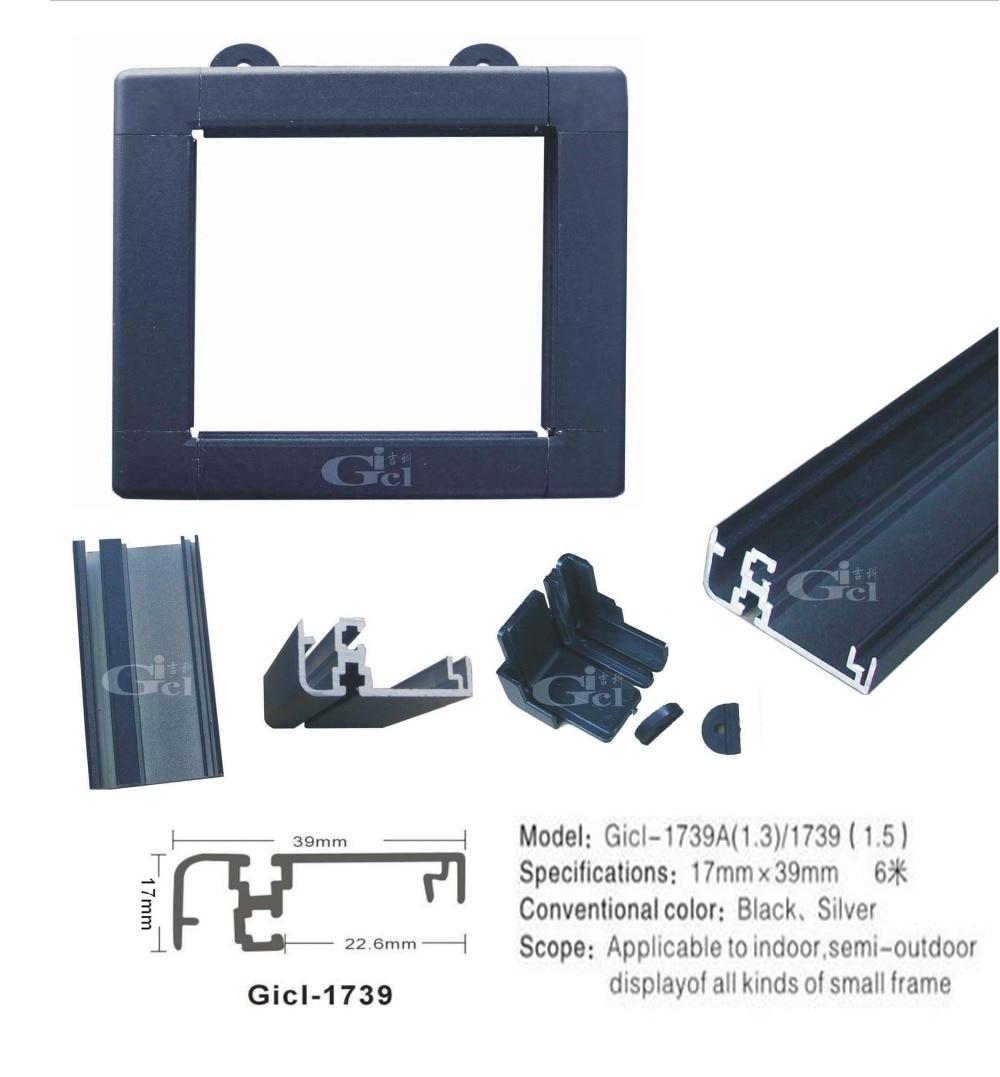 1 M/PCS Model1739  LED Display Profiles Framework Border LED Display Material  For Indoor Outdoor LED Sign
