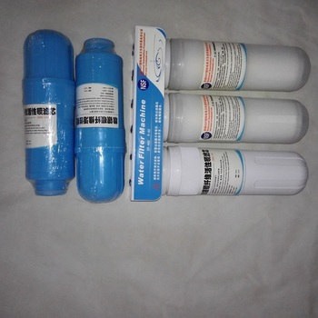 2pcs Blue Inner Carbon Replacement Filters and one prefilter