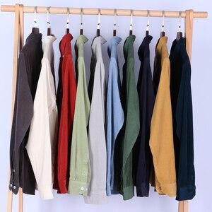 Image 3 - Schinteon Top Kwaliteit 100% Katoen Corduroy Shirt Lange Mouwen Dieptepunt Shirt Slim Fashion Brand S 4XL