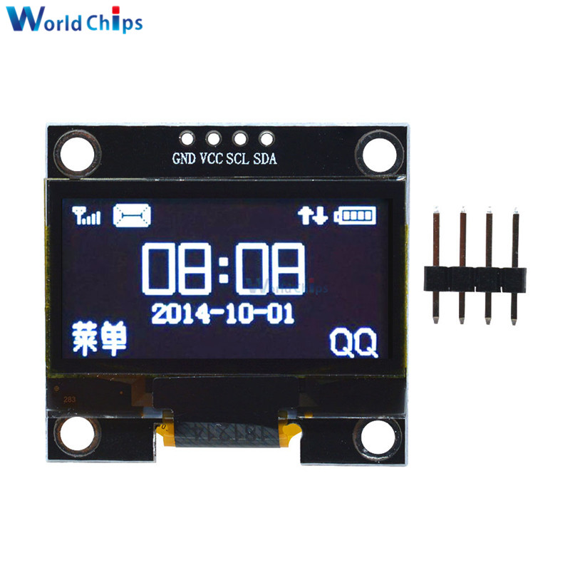 """White Color 1.3 Inch 1.3"""" OLED LCD LED Display Module 4PIN IIC I2C Interface Communicate 128x64 SSH1106 For Arduino 3.3-5V"""
