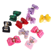 10Pcs Pet Cute Hair Clip Bow Knot Grooming Headdress Dog Cat Decoration Accessories Cachorro Puppies