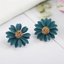 Fashion Jewelry Cute Cherry Blossoms Flower Stud Earrings for Women Several Peach Blossoms Earrings(China)