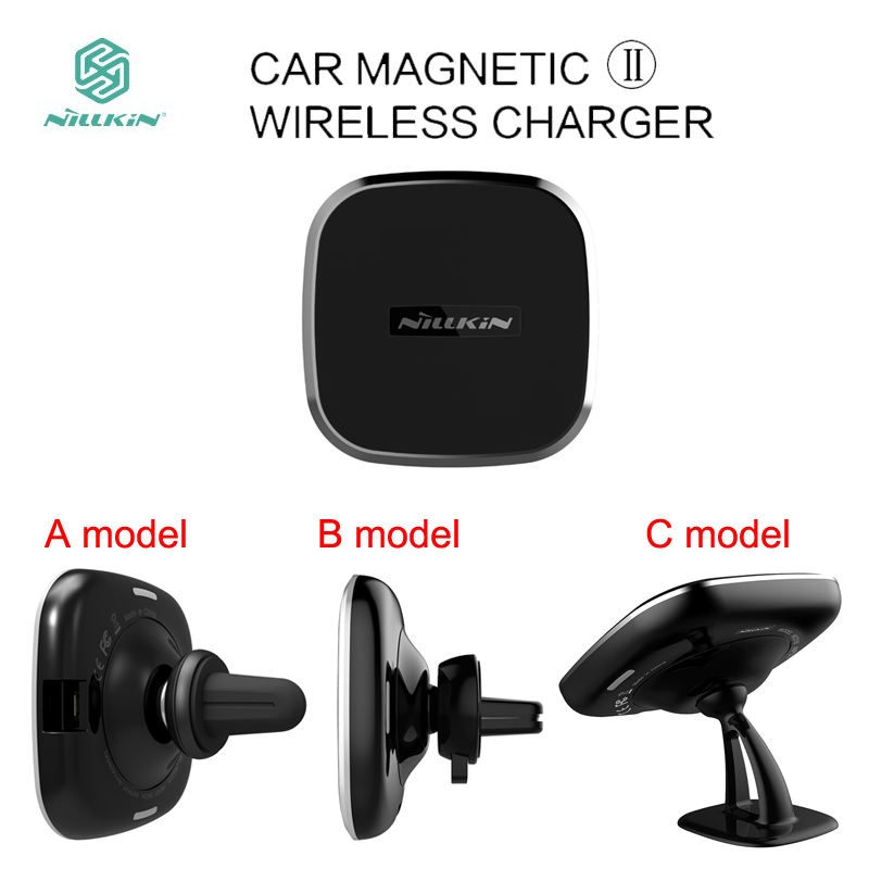 Qi wireless car charger magnetic air vent mount holder 6