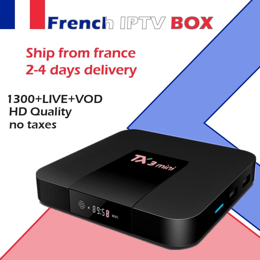 TX3 Mini 2G/16G Amlogic S905W 4 K Speler WiFi Android 7.1 Smart TV Box Frankrijk België IPTV Arabisch IPTV Neo IPTV 1300 Live + 2000VOD-in Set-top Boxes van Consumentenelektronica op  Groep 1
