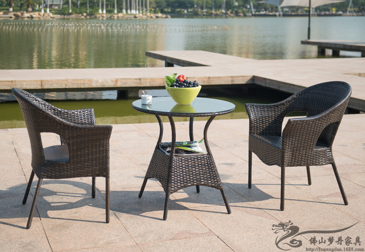 aliexpresscom buy rattan chair and coffee table casual outdoor furniture balcony garden rattan table and chairs lt01 from reliable chair suppliers on balcony outdoor furniture