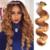 Honey Blonde 27 # Brasileño de la Virgen Del Pelo Onda Del Cuerpo de la Armadura Del Pelo Humano Ondulado Bundles 7A Grado Brasileño de la Virgen Del Pelo de Remy extensiones
