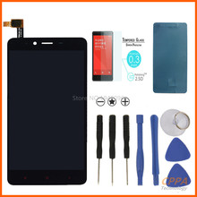 New 100% Original For Xiaomi Redmi Note 2 LCD Display +Touch Screen Digitizer Assembly Replacement +Tempered Glass+Tools+Sticker