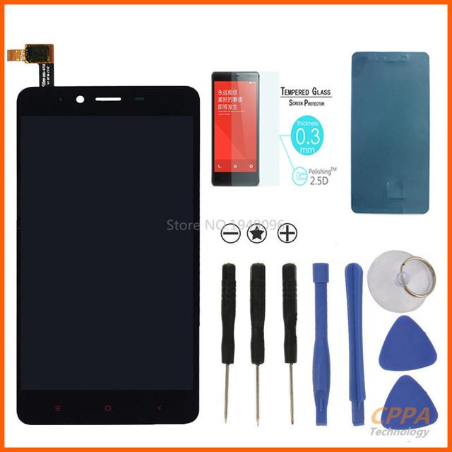 Novo 100% original para xiaomi redmi note 2 display lcd + touch screen digitador assembléia substituição + vidro temperado + ferramentas + adesivo