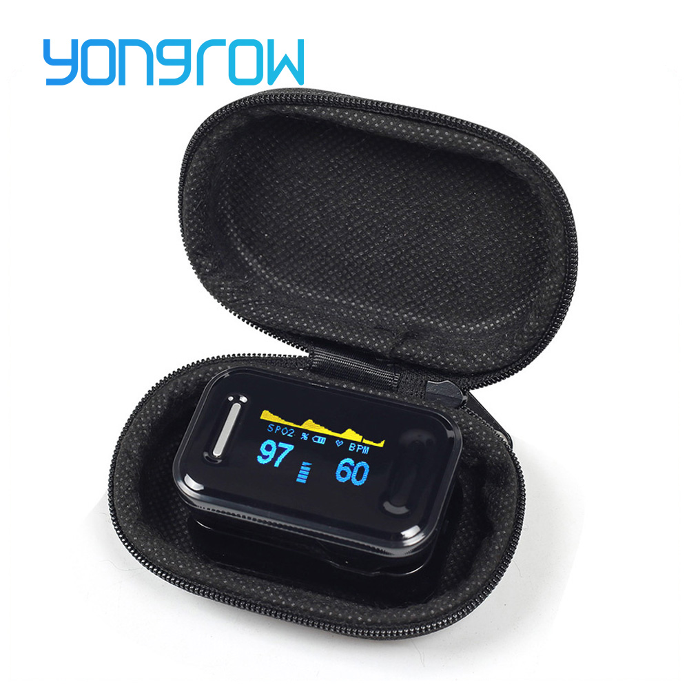11.11 Yongrow Medical CE FDA Fingertip Pulse Oximeter Digital Pulse Oximeter Blood Oxygen Saturation Monitor Health Care Spo2 PR hot sale mini spo2 fingertip pulse instant read digital oximeter blood oxygen sensor saturation monitor meter