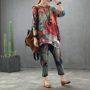 Image 4 - Max LuLu 2019 moda jesień koreański styl panie bluzki z dzianiny Tees damska luźna z nadrukiem z długim rękawem t shirty bawełniane ciepłe ubrania